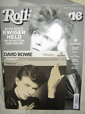 Rolling Stone 10/17 Heft mit CD + Exclusive Vinyl Single David Bowie