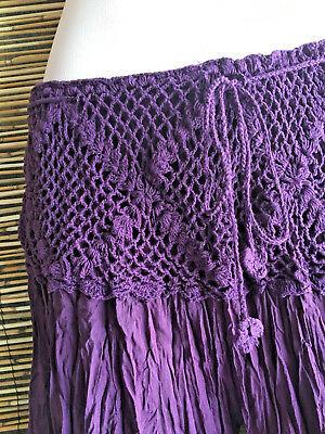 Lot of 5 rayon crochet waist pant/flares.New design.Wholesale.HIPPIE BOHO STYLE.