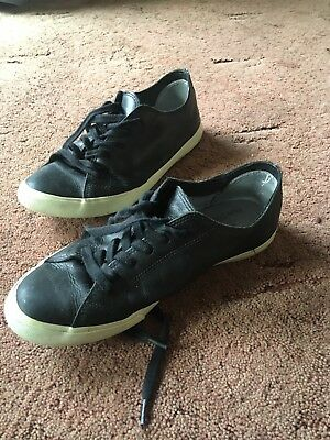Veja x French Trotters Mens Black Leather Trainers (EU 43/ UK 9)
