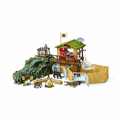 Schleich 42350 Croco Jungle Research Station Playset - Wild Life New 2017