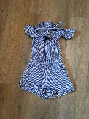 Girls next Striped  Playsuit Age 11 Years