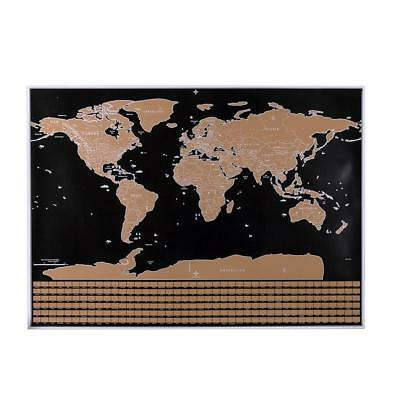 Large Size Deluxe Travel Edition Scratch Off World Map Personalized Journal Log