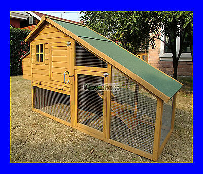 Large Deluxe Chicken Coop Rabbit Hutch Hen House Run Poultry Ark Nest Clarendon