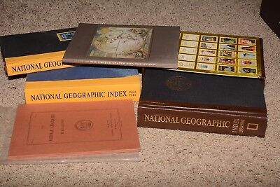 Lot Vintage National Geographic Index Books 1888-1988 Maps of the World Vol No 1