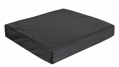 Vinyl Wheelchair Cushion Wth Memory Foam (Size 406x406x75 Mm (16x16x3 Inches))