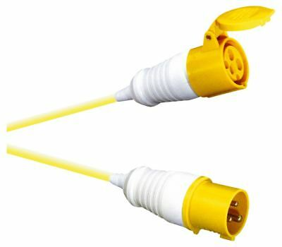 16 A High Current Extension Lead with Yellow 2.5mm Cable 24 Meter