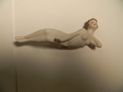 Vintage Porcelain Bathing Beauty-4 3/4 Inches Across