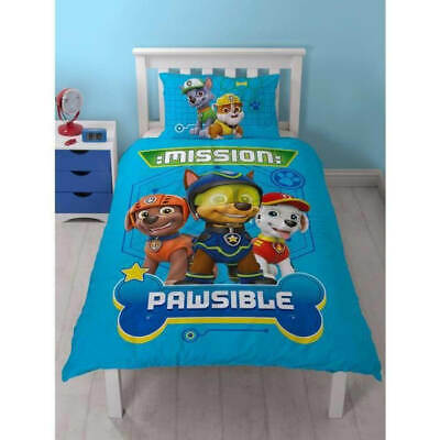 Paw Patrol Spy Single Quilt Cover Kids Bedding Chase, Marshall Zuma Rocky Rubble