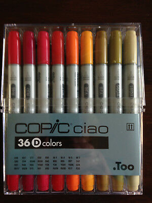 Copic ciao D colors Set - 36 Stifte-Manga-Comic und XL Marker Block ca. 90 Blatt