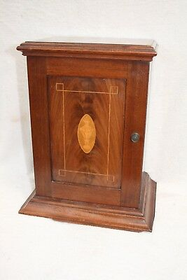 Small Antique Edwardian Inlaid Mahogany Smokers Cabinet