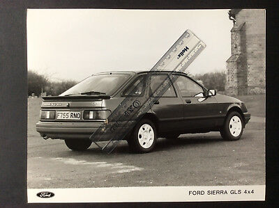Ford Sierra Gls 4X4 Black And White Press Photograph 1988