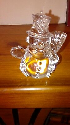 Marquis by Waterford Crystal Christmas Endearments. Snowman ornament. 2.5inch