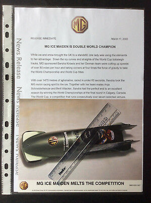 Mg Ice Maiden Bobsleigh World Championships Colour Press Photo & Press Release