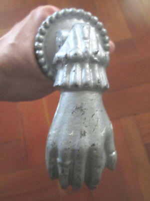 Vintage French Hand And Ball Door Knocker
