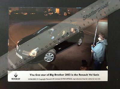 Renault Vel Satis Stars In Big Brother Colour Press Photograph 2003