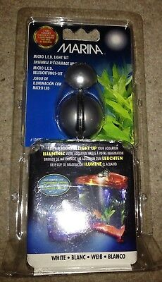 Hagen Marina Aquarium Micro Led Light Set 344137 White Light U.k Plug