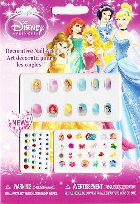 Childrens Disney Princesses Nail art, Stick on nails, jewels and Transfers. Stoc