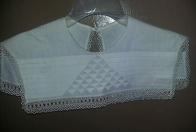 Linen Collar Handmade ladies Crocheted Lace Accent
