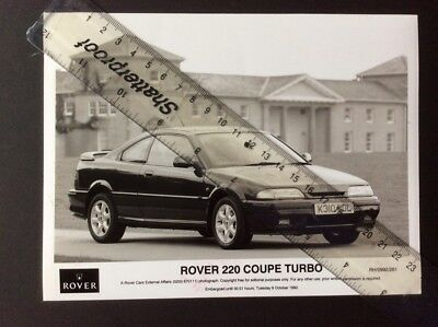 Rover 220 Coupe Turbo Black And White Press Photographs 1992