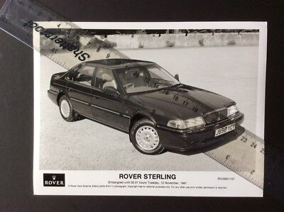 Rover Sterling Black And White Press Photograph 1991