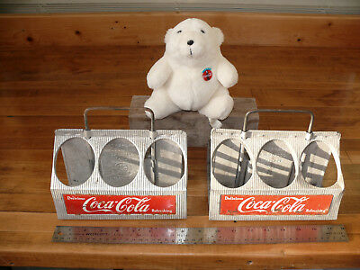 coca cola vintage carriers with bear