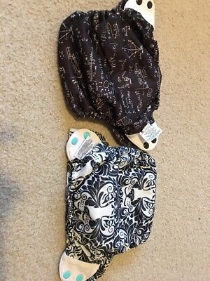 Lot Of 2 Perfect Bumgenius Elemental AIO One Size Organic Diapers OSA And Albert