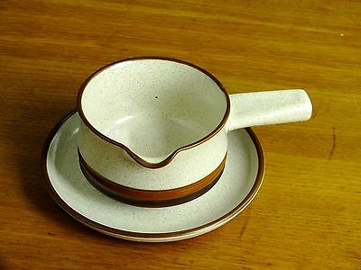 Denby Potters Wheel Sauce Gravy Boat & Stand