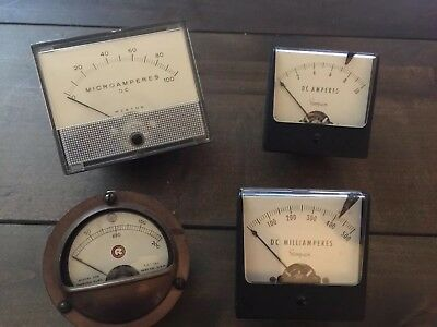 Vintage Simpson / DC Panel Amp Meters