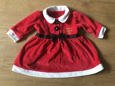 New Baby Girls Cute Christmas Santa Dress Age 0-3 Months