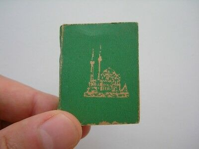 Turkish Arabic Islamic Old Printed Small Miniature Quran Koran Mushaf Serif