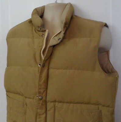 Vintage 60s 70s Woods Goose Down Outerwear Winter Puffer Vest Brown Size M