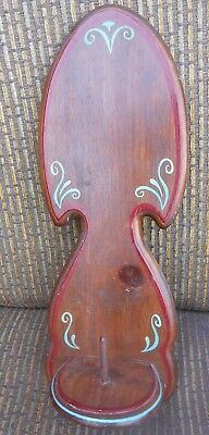Vintage Country Wood Wall Hanging Toilet Paper Towel Holder