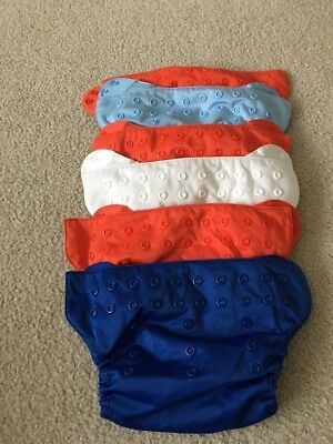 Lot Of 6 Perfect Flip By Bum Genius bumgenius Snap Pocket Diaper Covers