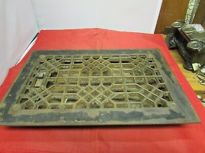 Vintage Cast Iron Ornate Heater Cover
