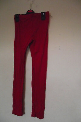 Girls red leggings from YD Age 11-12 Years