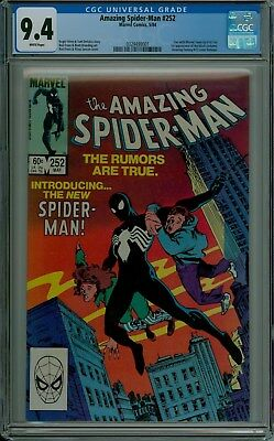 The Amazing Spider-Man #252 CGC 9.4 NM white pages 1st black costume 0329499001