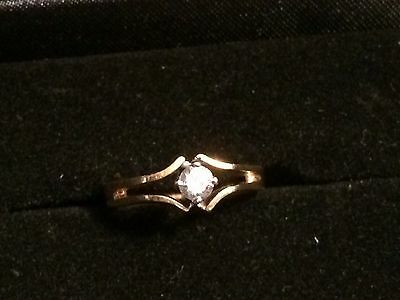 Ring 1 Brillant (0,20ct.)  in Gold (18kt / 750) 3,7gr