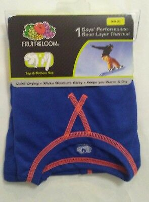 Fruit of the Loom Boys Performance Base Layer Thermal Set Size XL 14-16 Blue