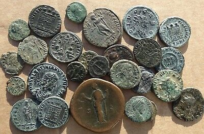 LOVELY !!!   LOT of  26  VARIOUS ROMAN IMPERIAL COINS
