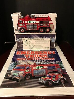 2005 Hess Emergency Truck With Rescue Vehicle New In Box Original Bag Included!
