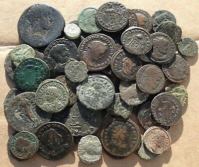 LOT of  55  VARIOUS ROMAN IMPERIAL  COINS