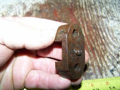 Old GALLOWAY 1 3/4, 2 1/4hp Hit Miss Gas Engine Push Rod Clamp Holder Steam NICE