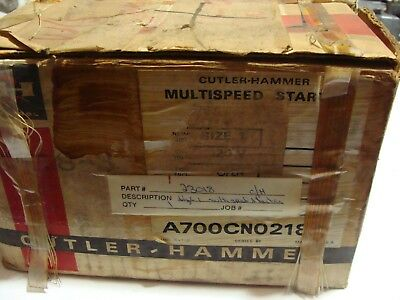 Cutler Hammer Multi Speed Starter NEW A700CNO218 Size 1 Ser B1