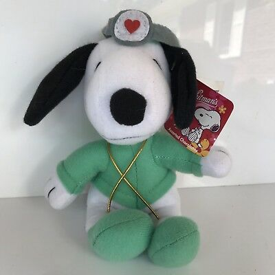 Peanuts Snoopy Plush Doctor Costume Whitmans Chocolate Tags Attached