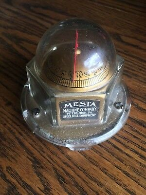 Vintage Mesta Machine Company Pittsburgh Pa. Steel Mill Equipment Thermometer