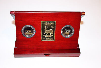 Investment Coin Set 2011 Silver Gold and Jewels Limited Edition