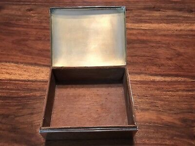 T2: Vintage Smith & Smith Cedar Lined Sterling Silver Cigarette Case