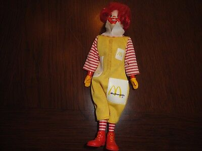 Vintage 1976 Remco Ronald McDonald Doll 7.5 inch tall,