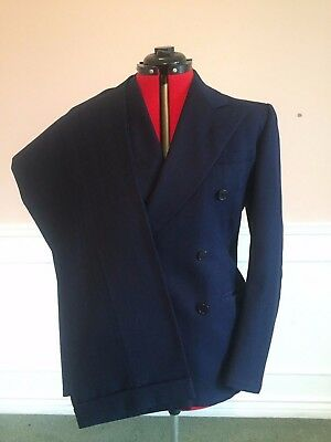 1930s Bright Navy Double-Breasted Suit