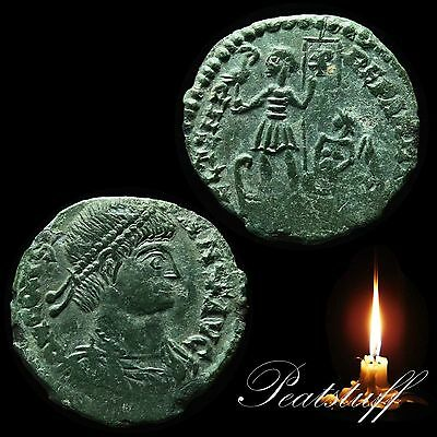 BARBAROUS. Constans. Emperor on Galley. Ancient imitation. Detecting find. 69 RB